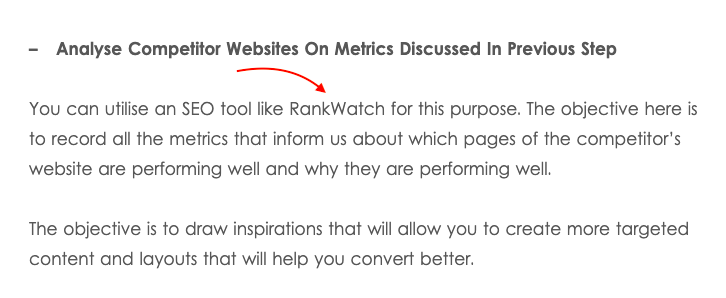 Unlinked Mention of RankWatch