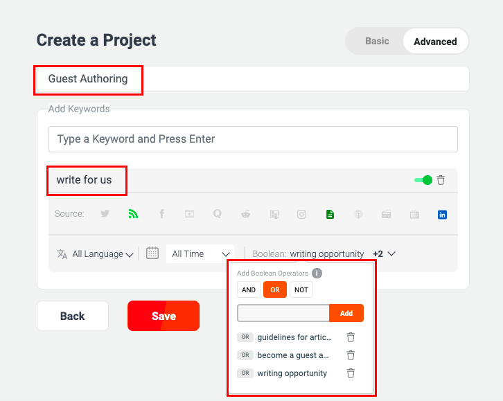 Finding writing opportunities using WebSignals